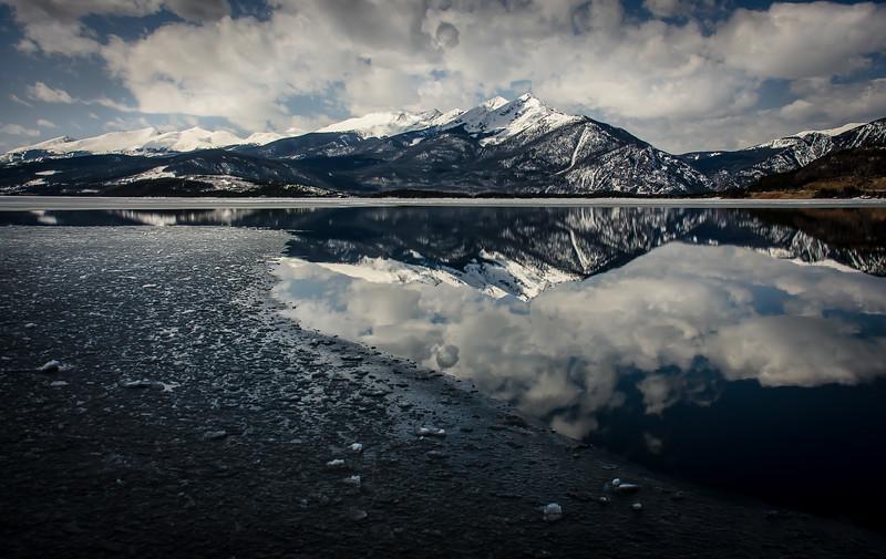Ice Melting  at Dillon Lake Colorado