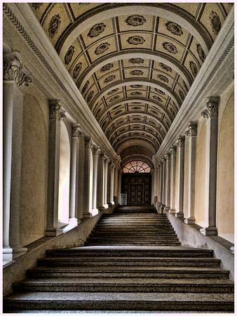 Disentis Abbey Hallway