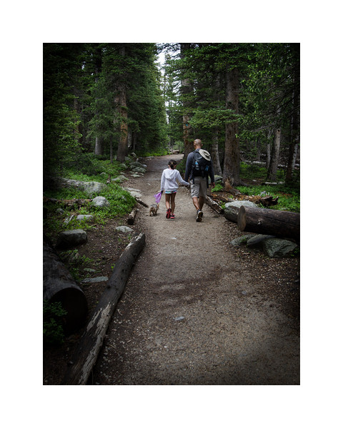 My neighbor and daughter on their first hike