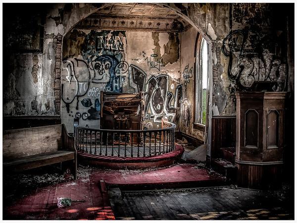 Old Nebraska Abandoned  Church