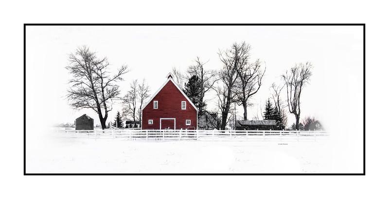 Loveland Red Barn in the Winter