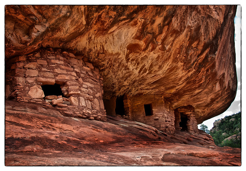 House on Fire  Anasazi Indian Ruins<br /> Mule Canyon, Utah