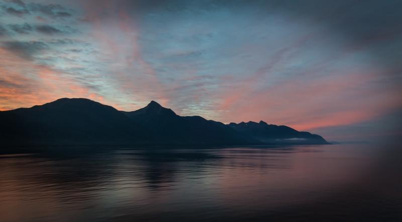 Alaskan Inland Passage Sun Rise