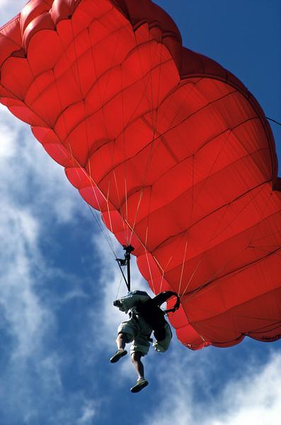 Red Parafoil Parachute