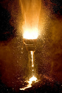 Thermite Reaction Creating Molten Iron