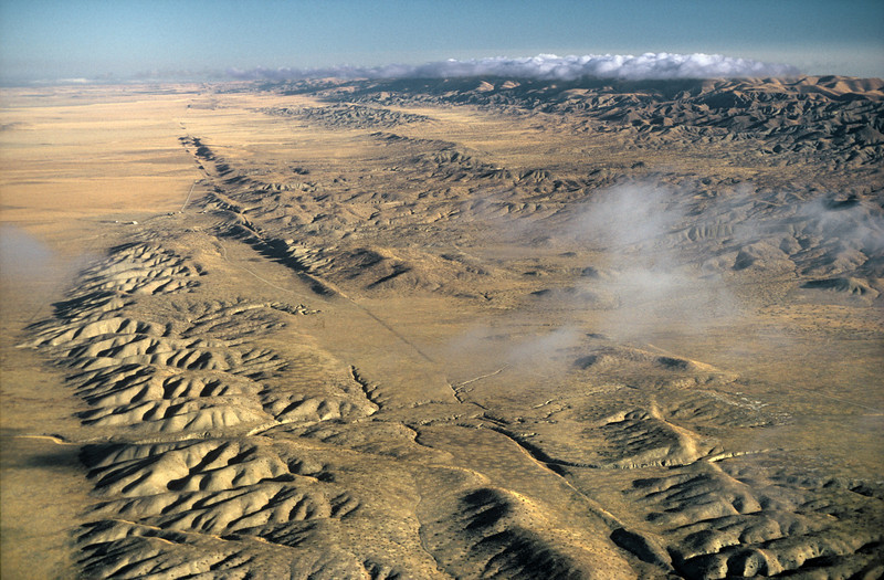 The San Andreas Fault, Carrizo Plain, California