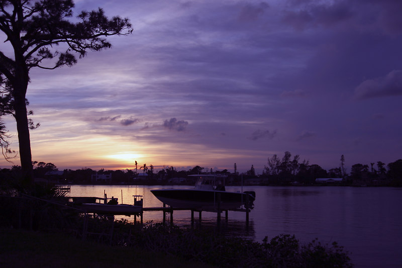 Sunset Over North Branch of the Loxahatchee River