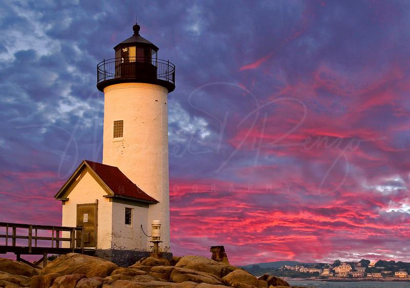 Harbor Light - Annisquam Lighthouse near Gloucester Massachusetts.  2008 Leonard Victor Award winner 1st Place