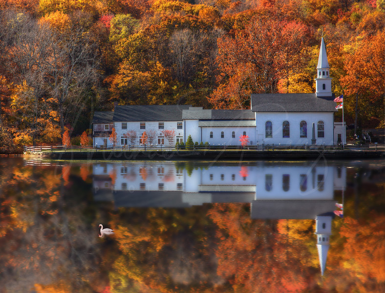 St. John's Church Reflection - Best in Show - St. Joseph's Hospital 2014 Juried Photo Competition   # 8280 w28