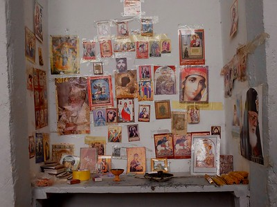 Religious icons are a familiar site in the country.