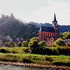View from the Rhine.  If anyone knows the name of this cathedral, I would be grateful...