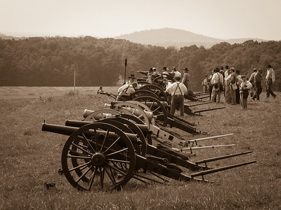 Confederate Artillery Preparing