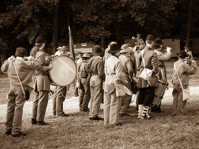 Confederate Band Rallying Troops