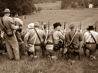 Confederate Infantry At The Ready