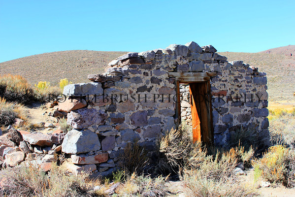 Moyle Warehouse ruins in Bodie State Historic Park, California.