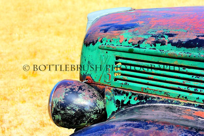 Old Ford V8 Truck in Bodie, California.