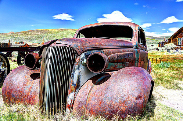 1937 Chevy 5-Window Coupe left behind in Bodie, Ca.