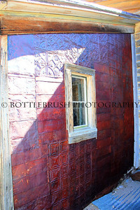 Metal siding of a house in Bodie, California.