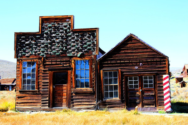 Sam Leon Bar and Barber Shop in Bodie, California.
