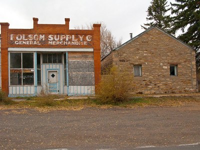 North America, USA, New Mexico, Folsom, Abandoned Buildings , Folsom Supply Campany