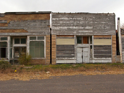 North America, USA, New Mexico, Folsom, Abandoned Buildings