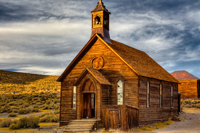 Church at Sunset - Bodie, AZ