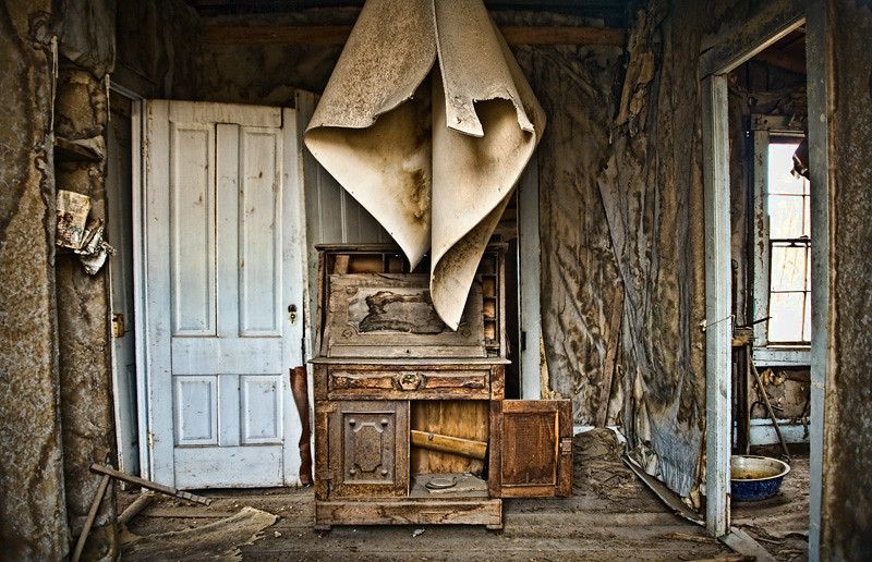 """Dropped Ceiling"" and Cabinet - Bodie Ghost Town, California"