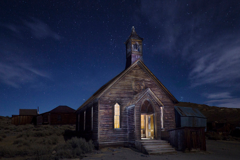Bodie - Old Church at Night