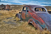 Rusting Car and Buildings - Bodie Ghost Town, California