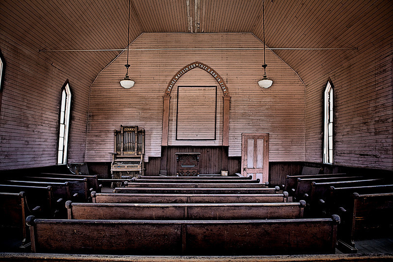 Church Interior - Bodie Ghost Town, California