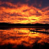 Fiery sunrise, bottom lake, Mallacoota, photo Phillipa Hamilton