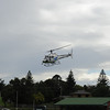 Helicopter over Lochiel Park, Orbost Photo Jan & Denis Read