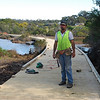 Col working on Pathways at Mallacoota