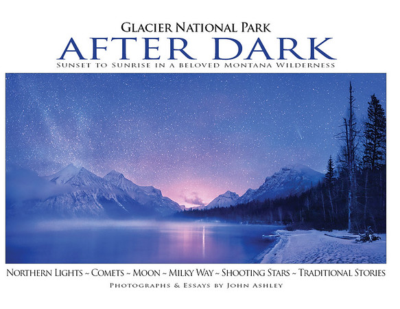 """Glacier National Park After Dark"" book cover"