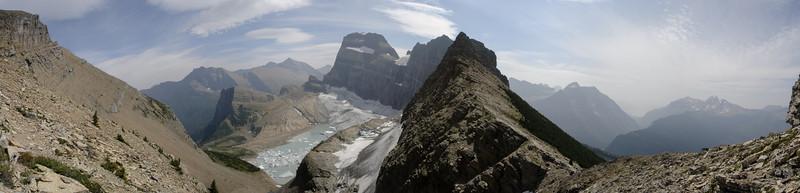 Above Grinnell Glacier in Glacier National Park.