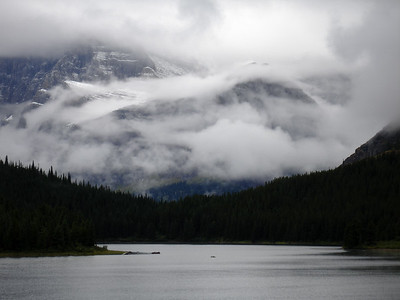 Misty cloud over Mount Gould and Swiftcurrent Lake, Glacier National Park, Montana, 2005.