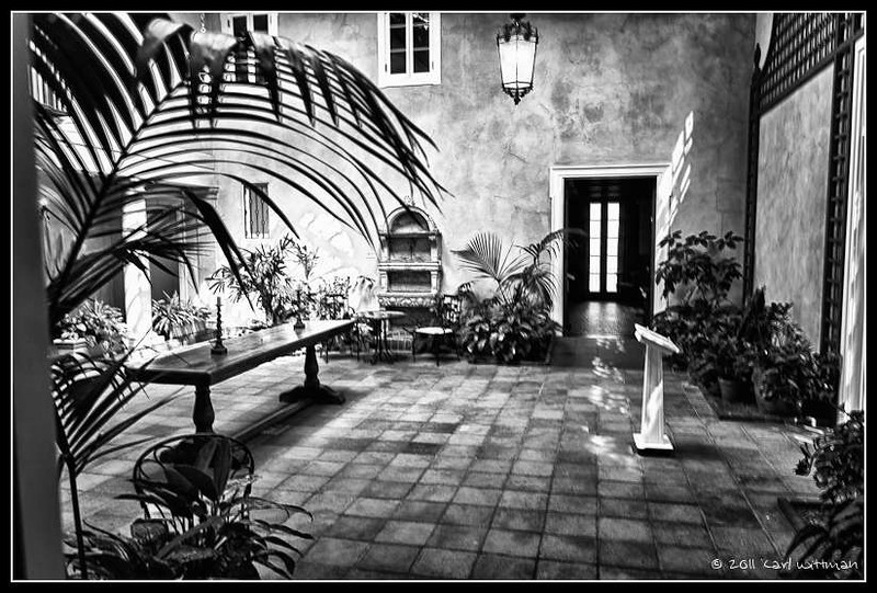 The Hyde courtyard converted in Silver Efx Pro.