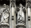 Statues on Westminster Abbey. London, England