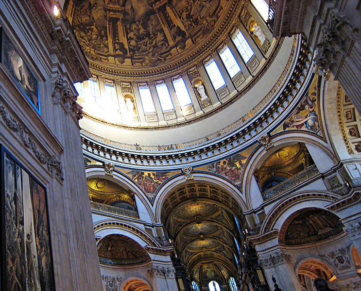 Interior of St. Paul's Cathedral. London, England.