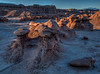 Sunrise Highlights on Rocks in Goblin Valley