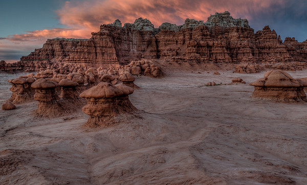 Goblin Valley Sunset Clouds