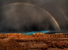 Rainbow over Goblin Valley