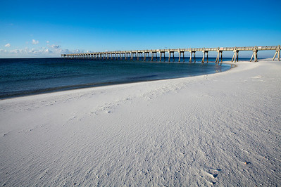 Pensacola Beach on a cool, clear morning.