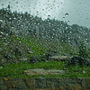 Raindrops on Windshield | Going to the Sun Road | Glacier National Park