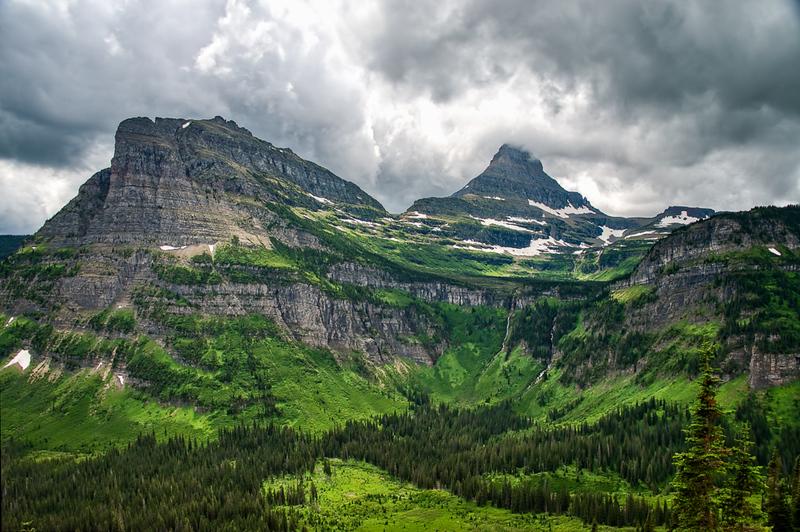 Reynolds Mountain   Approaching Storm   Glacier National Park