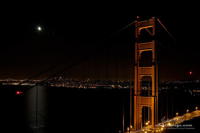 GGB Tower and Moon