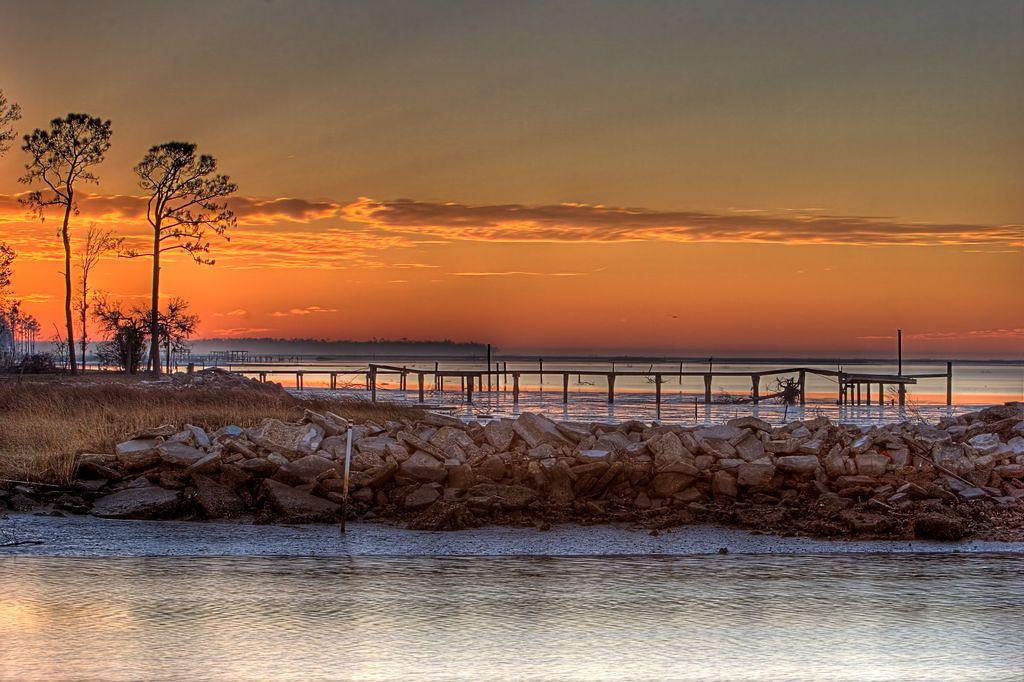 Katrina pier at sunrise