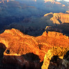 Bright Lights Just Before Sunset at the Grand Canyon in Arizona