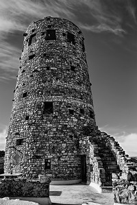 Grand Canyon Tower  Black and White