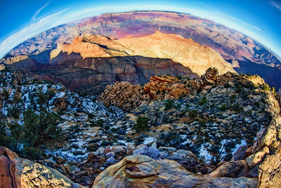 Grand Canyon Tower View Fisheye